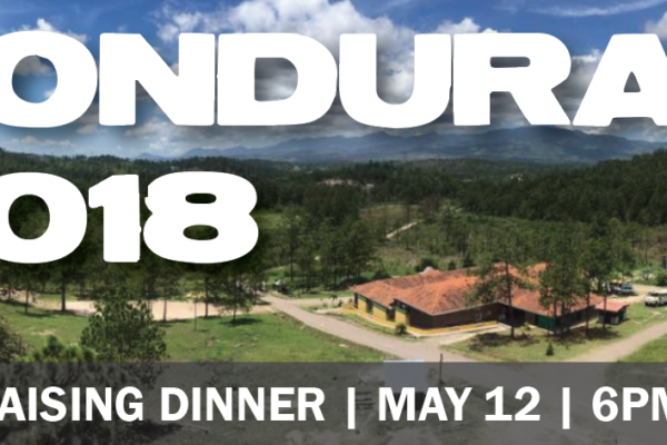 Honduras Dinner graphic with date