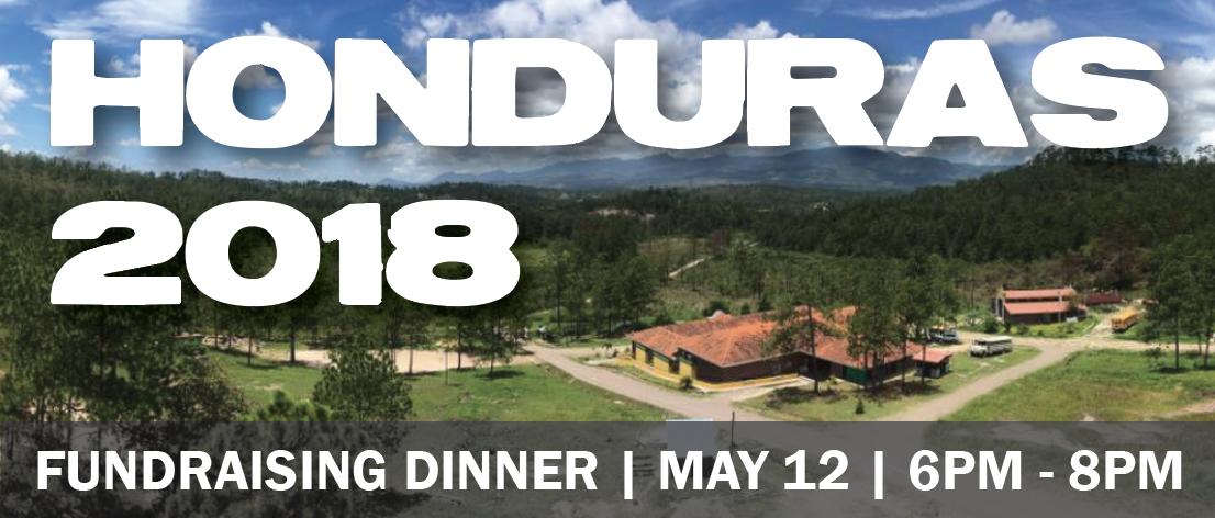 Honduras Dinner graphic with date